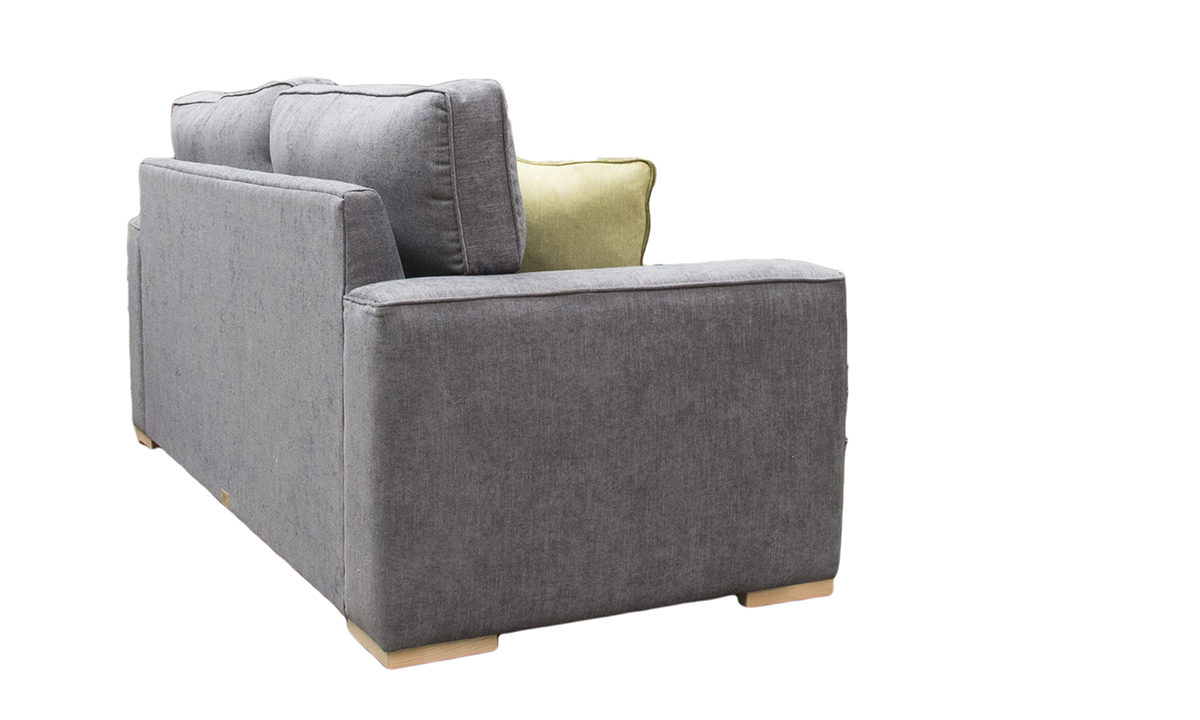 Leon 3 Seater Sofa  in C.Pearl Slate, Bronze Collection Fabric