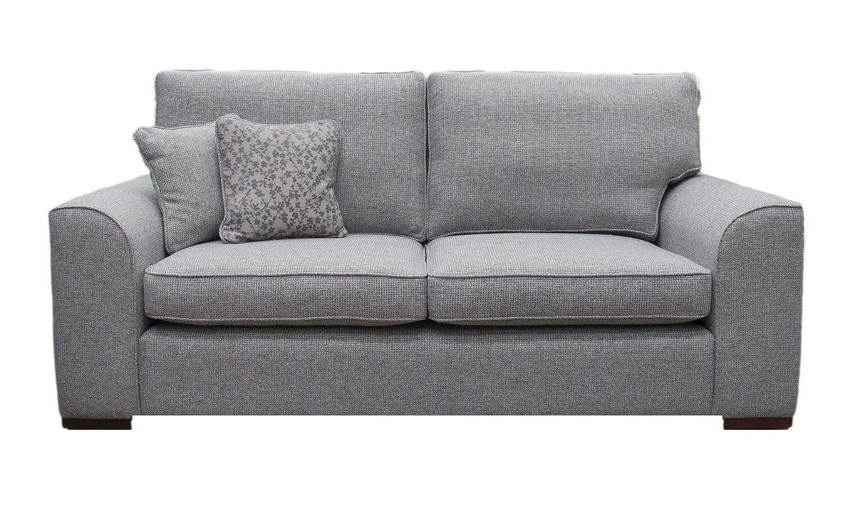 Leon 3 Seater Sofa in Milwaukee Grey, Bronze Collection Fabric
