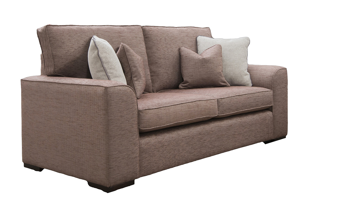 Leon 3 Seater Sofa in Lenora Grape, Silver Collection Fabric
