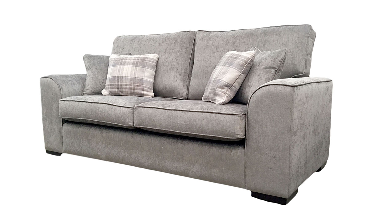 Leon 3 Seater Sofa in Edinburgh Truffle, Silver Collection Fabric