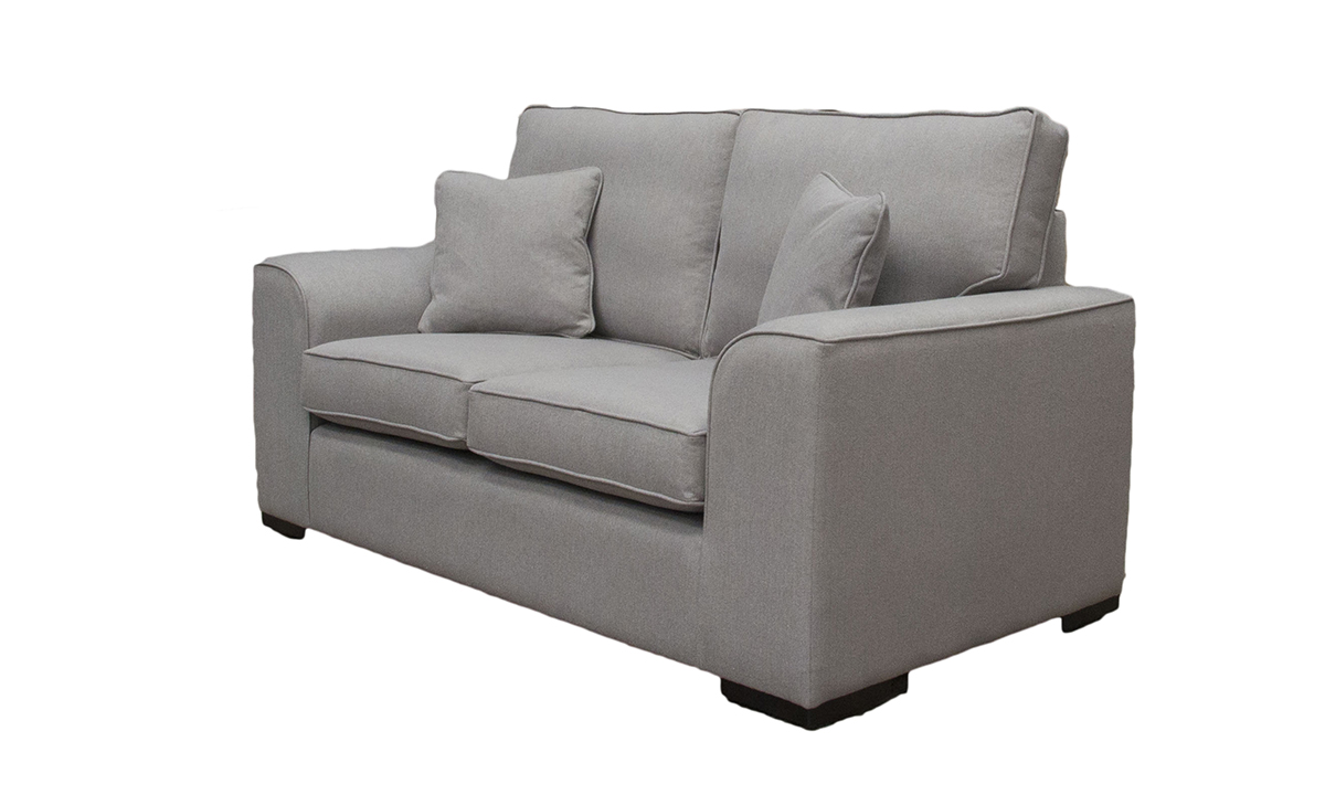 Leon 2 Seater Sofa in San Francisco Silver, Bronze Collection Fabric