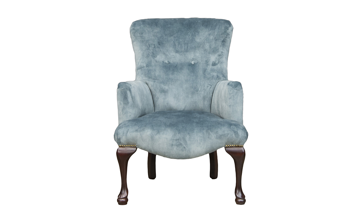 Aisling Chair in Lovely Aqua, Gold Collection Fabric