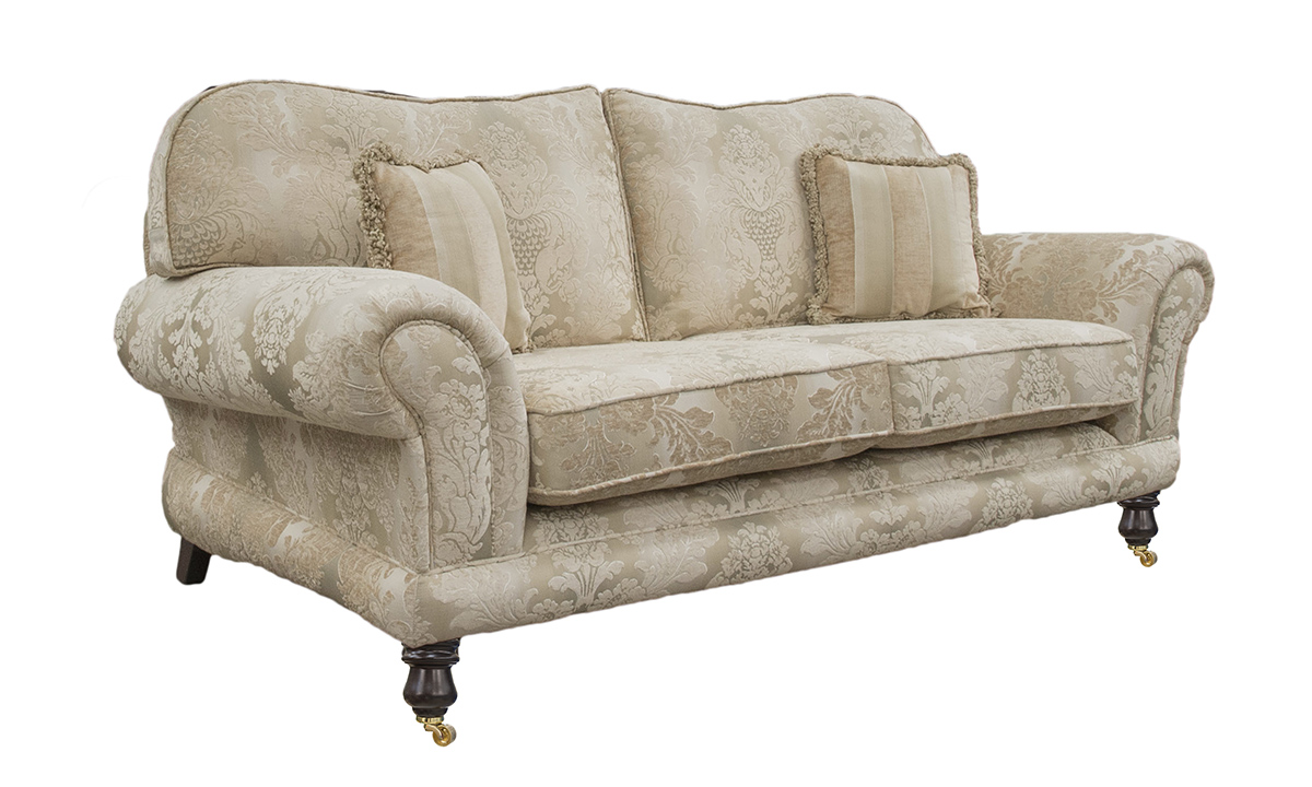 Alexandra 3 Seater Sofa in Sonoma Pattern Gold, Platinum Collection Fabric