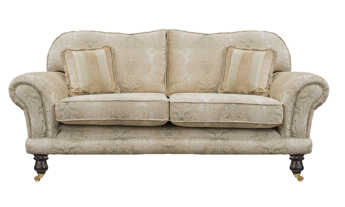 Alexandra 2 Seater Sofa in Sonoma Pattern Gold, Platinum Collection Fabric