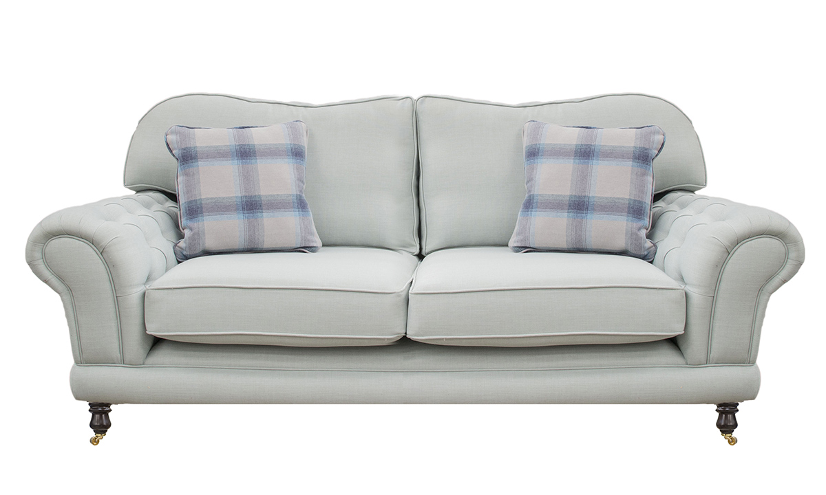 Alexandra 2 Seater Sofa with Deep Button Arms (bespoke option)  in Fontington Turin Tur 219 Duck Egg