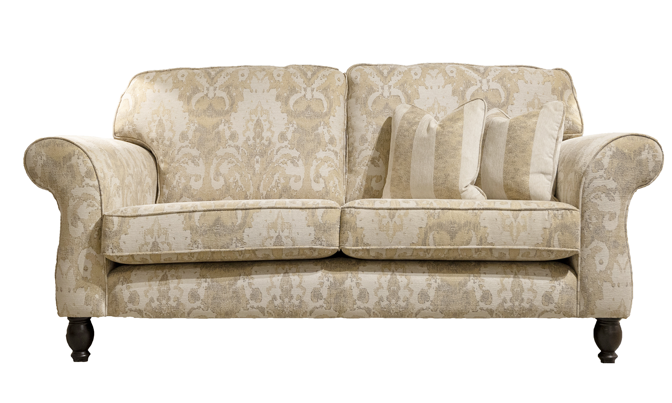Ascot 3 Seater Sofa  in fresco Pattern Oatmeal Silver Collection Fabric