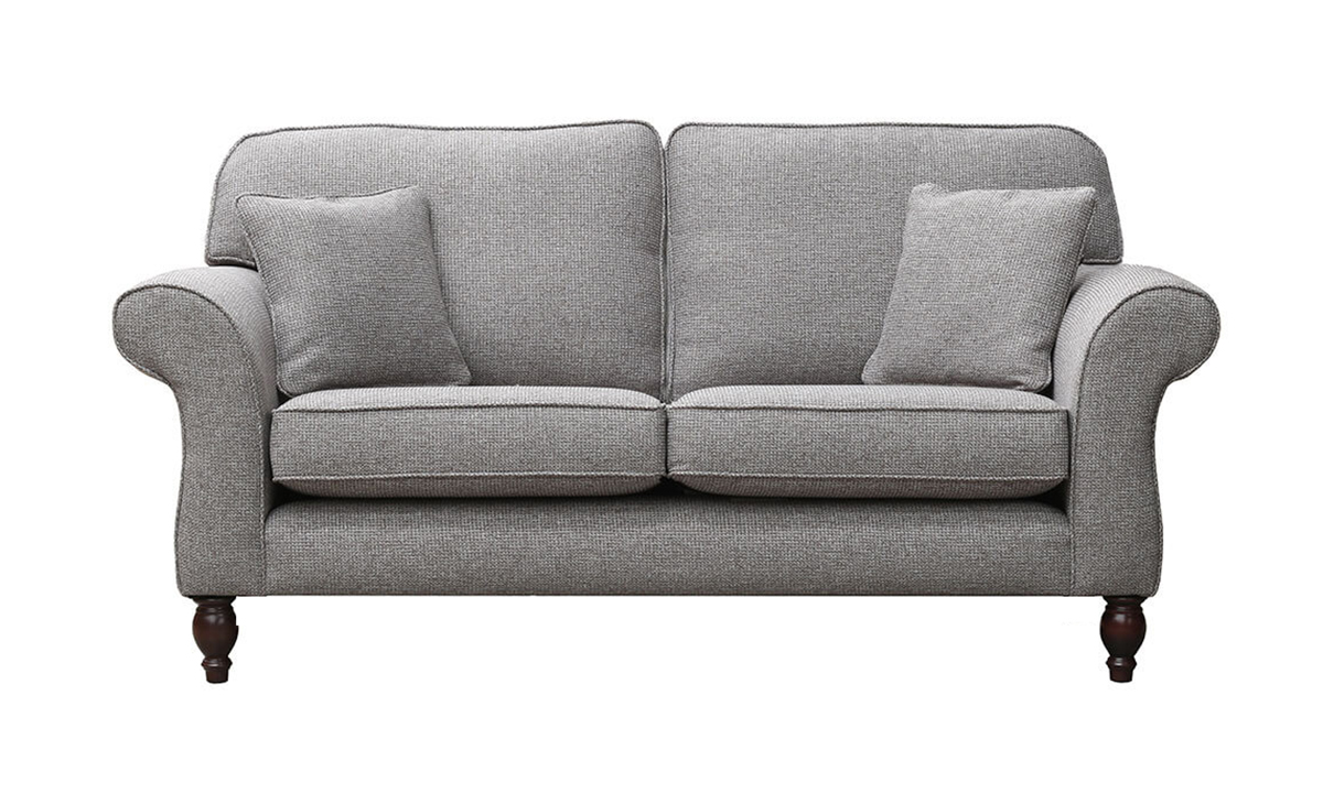 Ascot 3 Seater Sofa in Milwaukee Grey, Bronze Collection Fabric