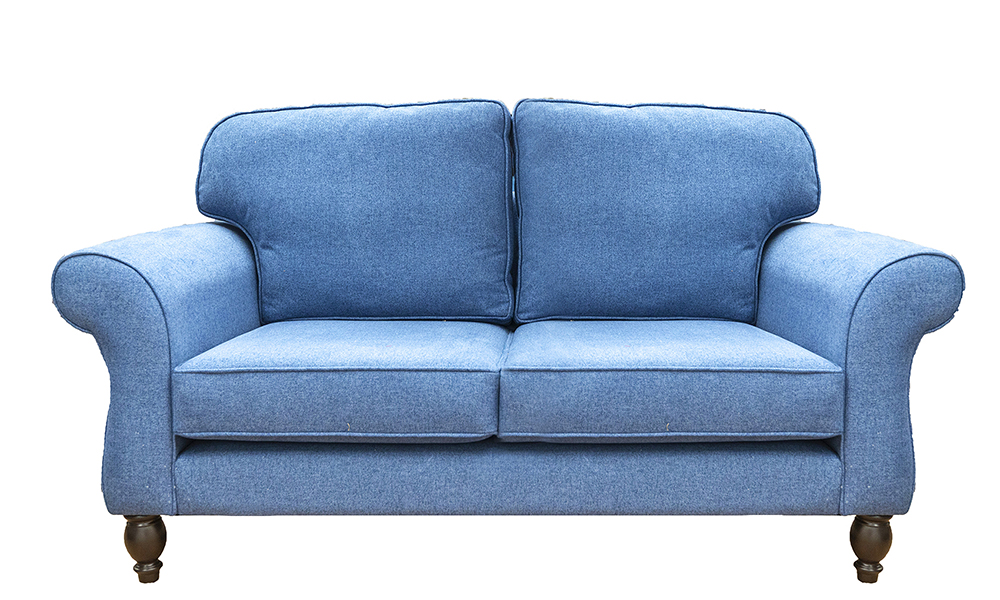 Ascot 2 Seater Sofa in Soho Blue, Silver Collection Fabric