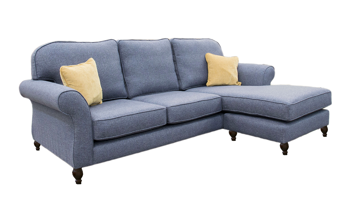Bespoke Aslan 3 LHF seater Sofa with RHF Chaise End in a Bronze Collection Fabric