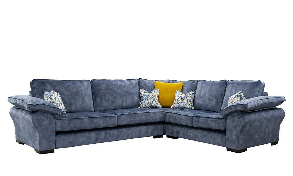 Atlas Corner Sofa in Lovely Atlantic, Gold Collection Fabric