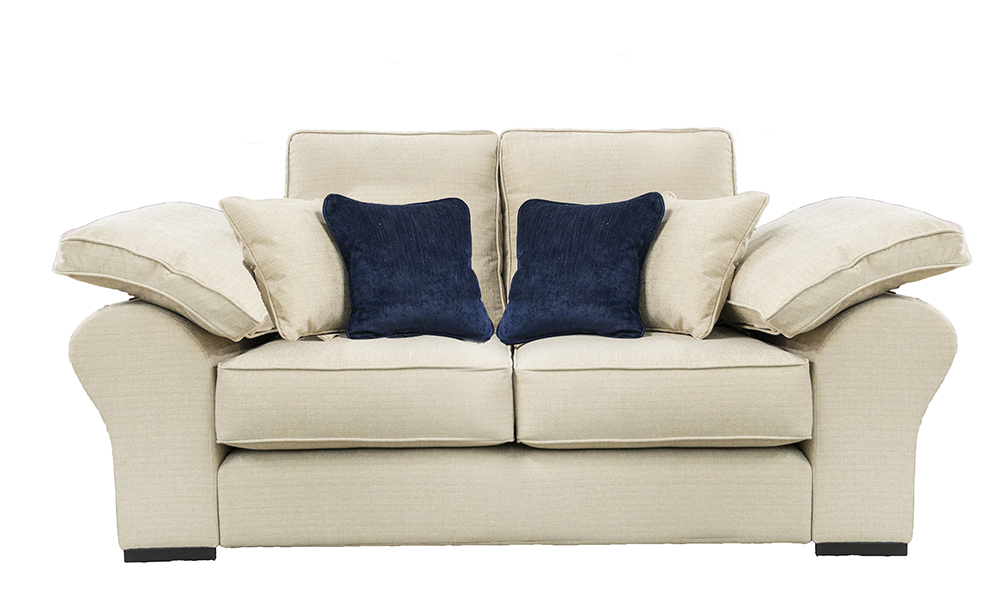 Atlas 2 Seater Sofa in Frank Plain Mist, Silver Collection Fabric