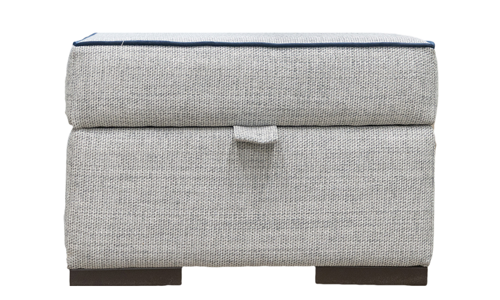 Atlas Storage Footstool in Bravo Duck Egg, Silver Collection Fabric