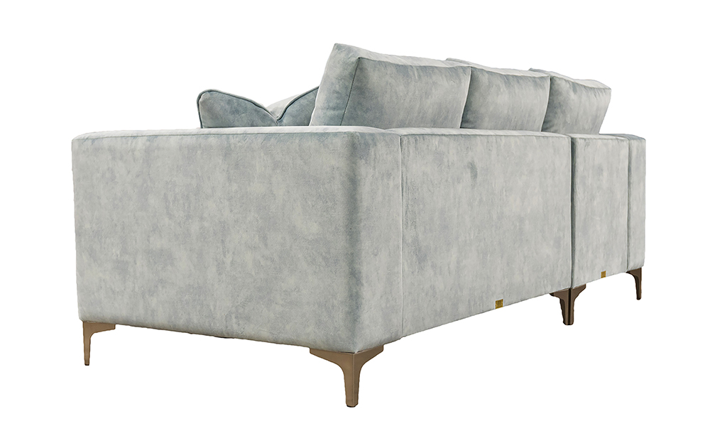 Baltimore 2 Seater Sofa Lounger in Lovely Powder Gold Collection Fabric
