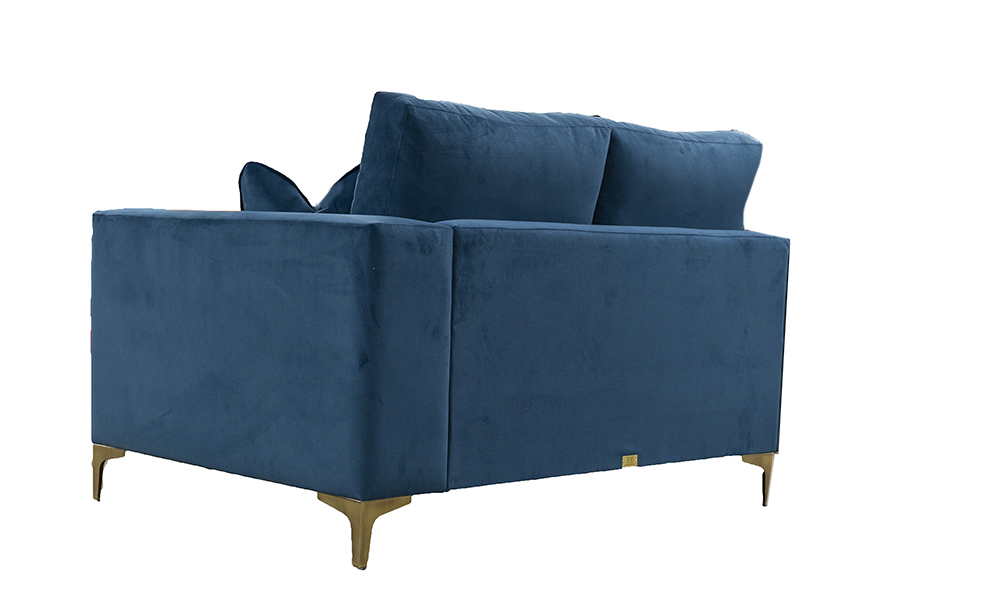Baltimore 2 Seater  Sofa, Plush Teal, Silver Collection Fabric. 518102 2