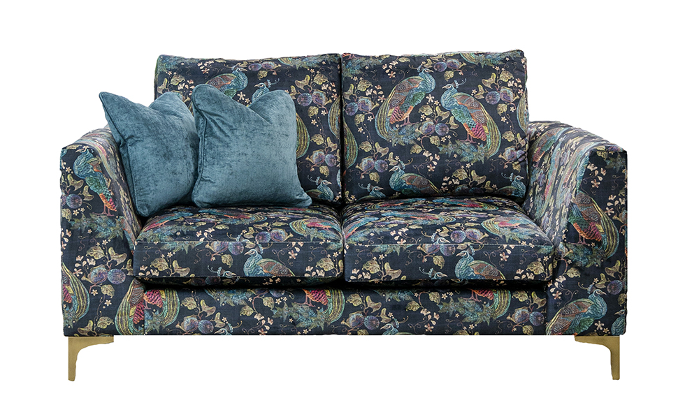 Baltimore 2 Seater Sofa in Peacock Navy, Platinum Collection Fabric