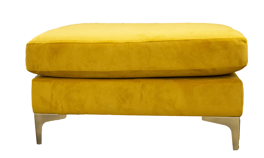 Baltimore Island in Plush Turmeric, Gold Collection Fabric