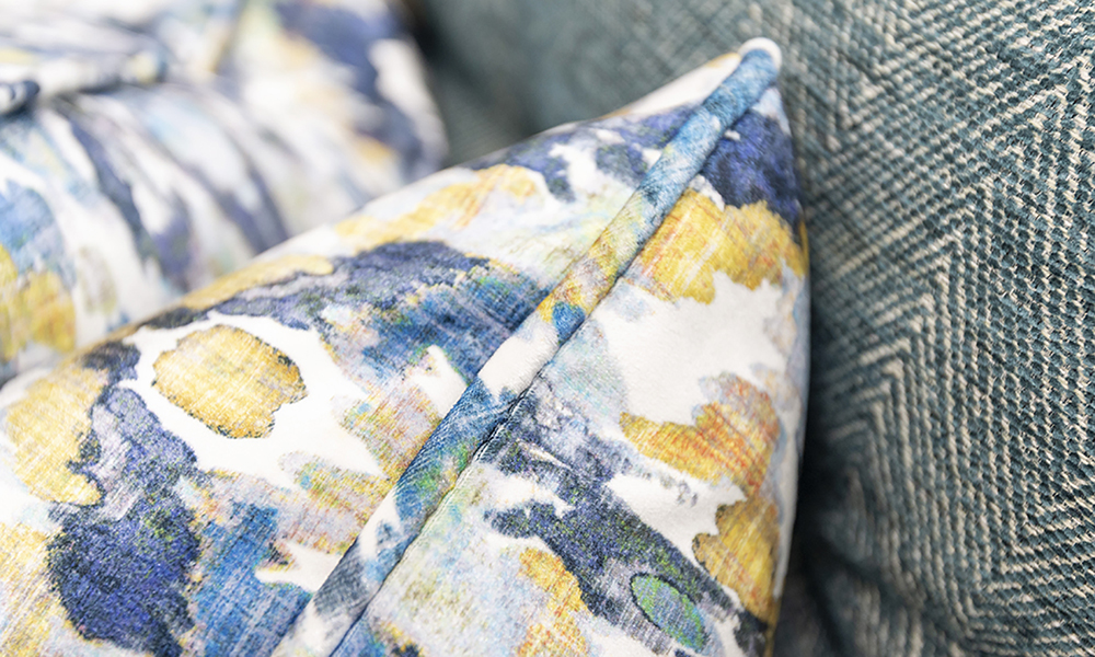 Boland Scatter Cushion in Monet Winter, Platinium Collection