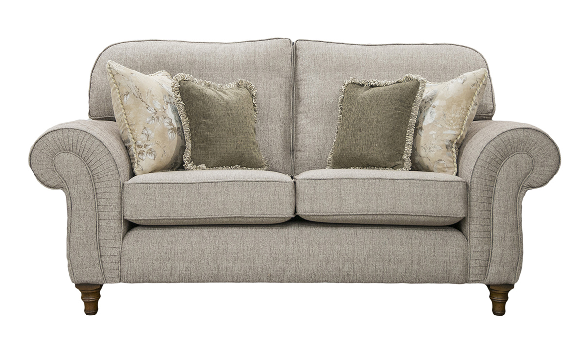 Capella 2 Seater Sofa in Spencer Nutmeg Silver Collection Fabric