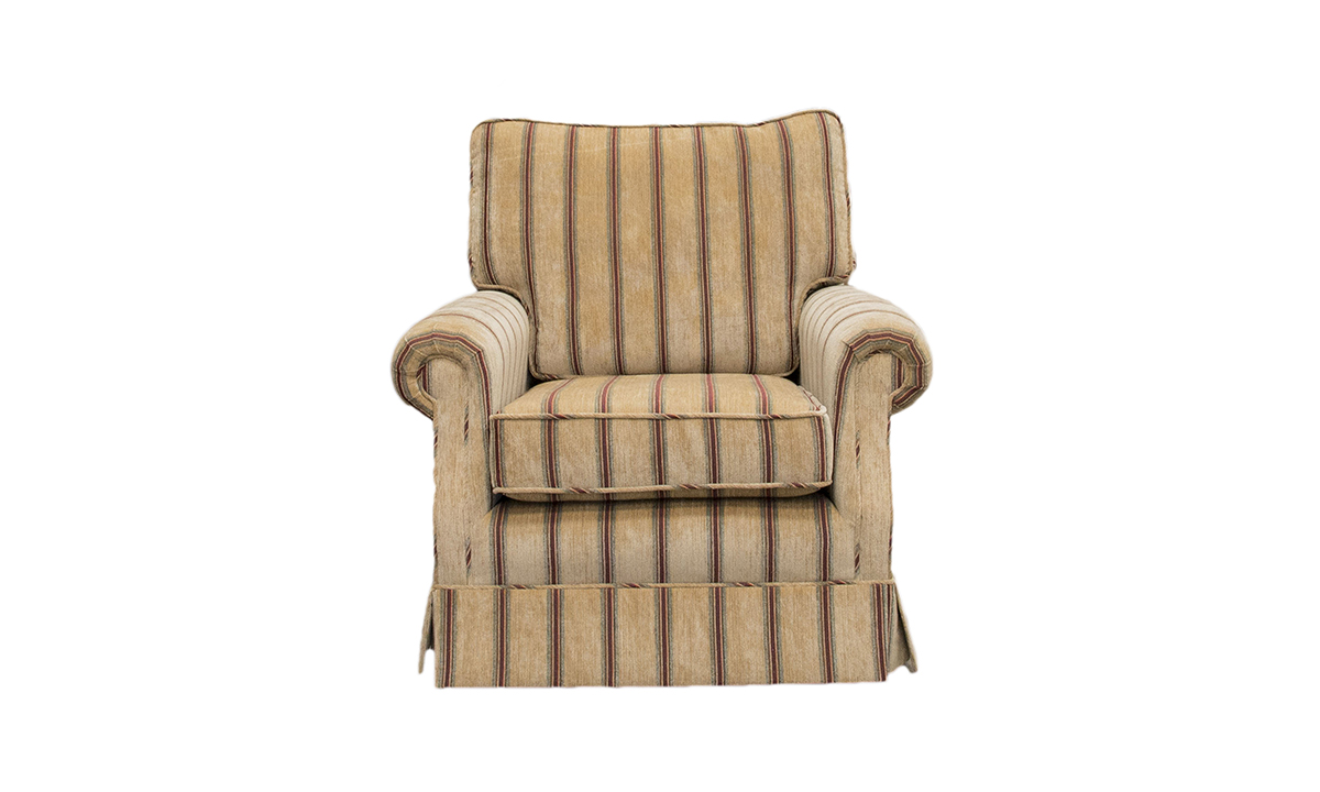 Clare Chair in a Silver Collection Fabric