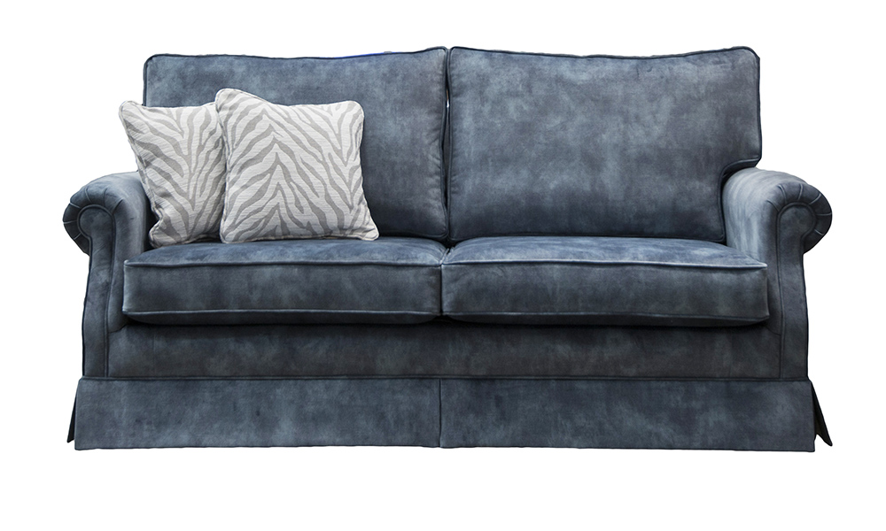 Clare 2 Seater Sofa Lovely Atlantic, Gold Collection Fabric