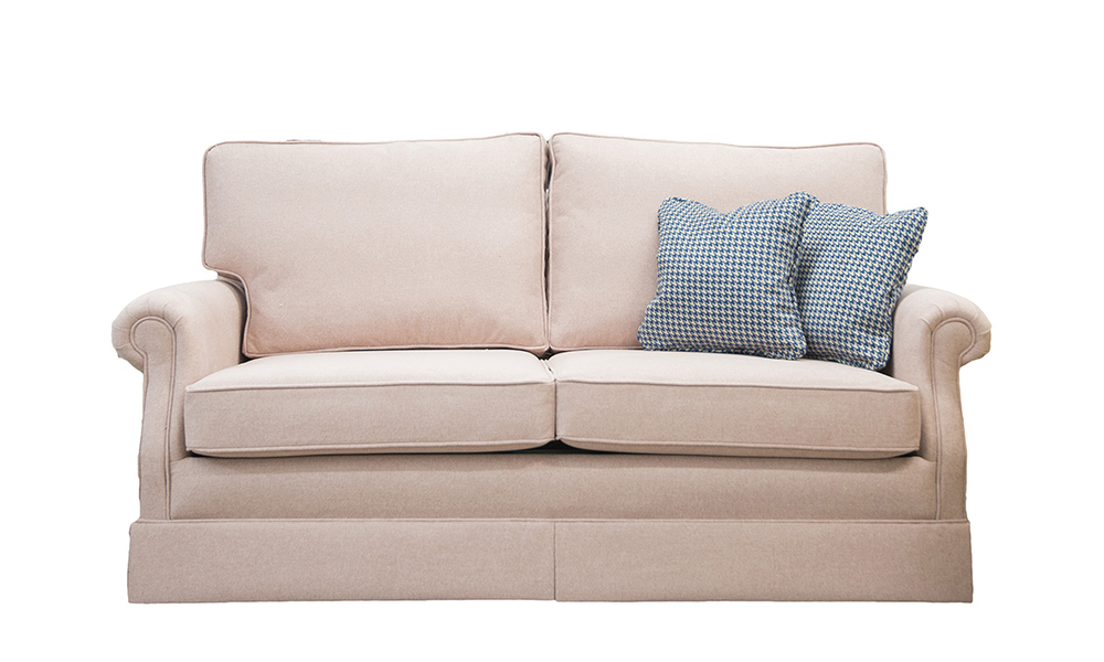 Clare 2 Seater Sofa in Soho Blush, Silver Collection Fabric