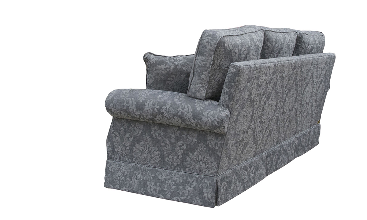 Clare 3 Seater Sofa in Dagano Pattern Noir , Bronze Collection Fabric