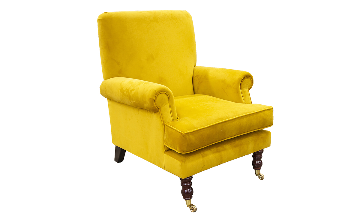 Cleary Chair Warwick Plush Turmeric Silver Collection Fabric