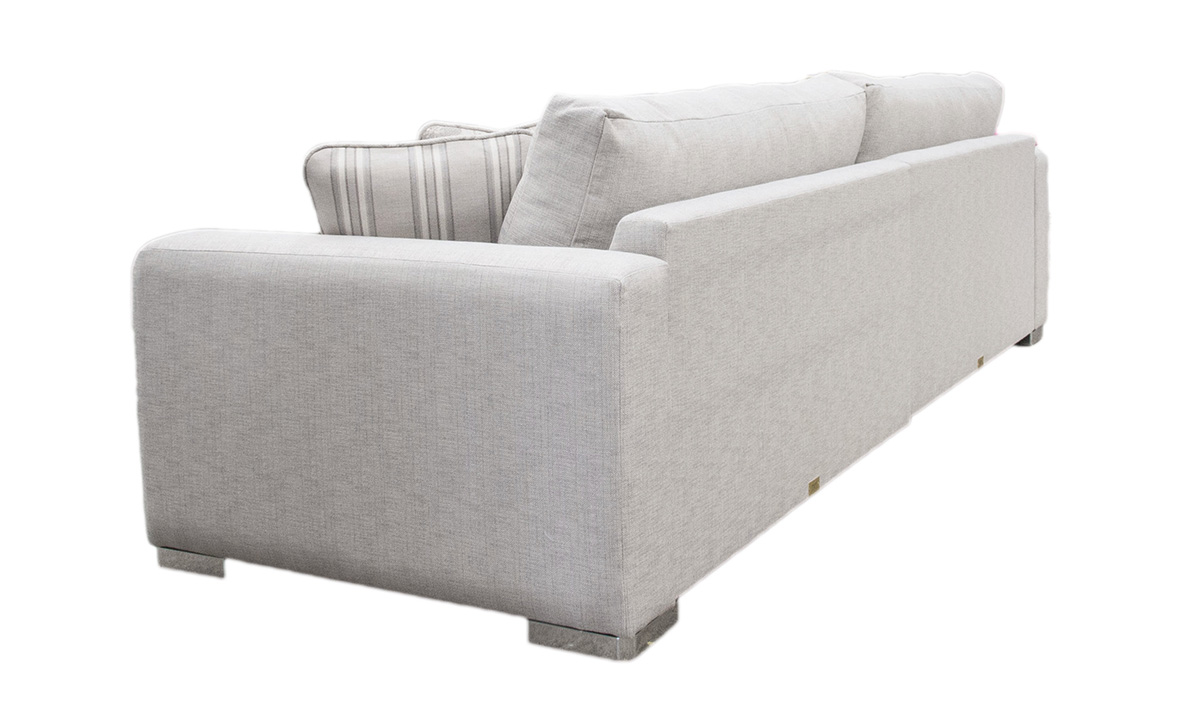 Bespoke Collins Sofa in a Silver Collection Fabric