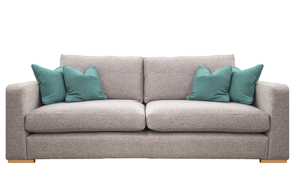 Collins 3 Seater Sofa in Milwaukee Grey, Bronze Collection of Fabrics