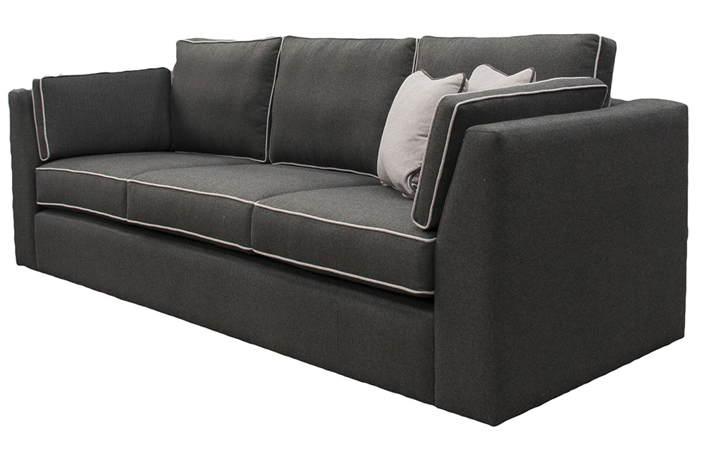 Como 3 Seater Sofa in Tweed Charcoal, Silver Fabric Collection