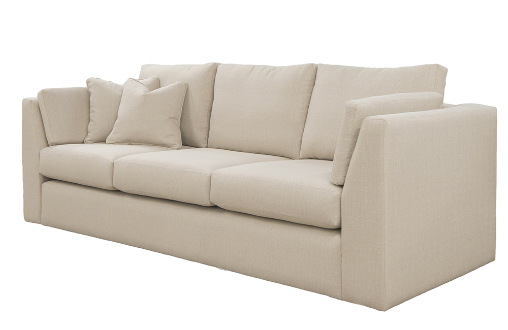 Como 3 Seater Sofa in Aosta Linen Silver Collection Fabric