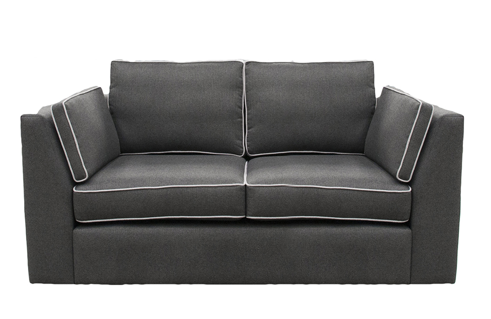 Como 2 Seater Sofa  in Tweed Charcoal, Silver Fabric Collection