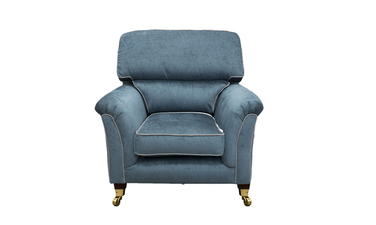 Cumbria Chair in Edinburgh Petrol, Silver Collection Fabric