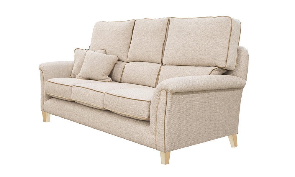 Bespoke Cumbria Sofa in Bravo Sand, Silver Collection Fabric