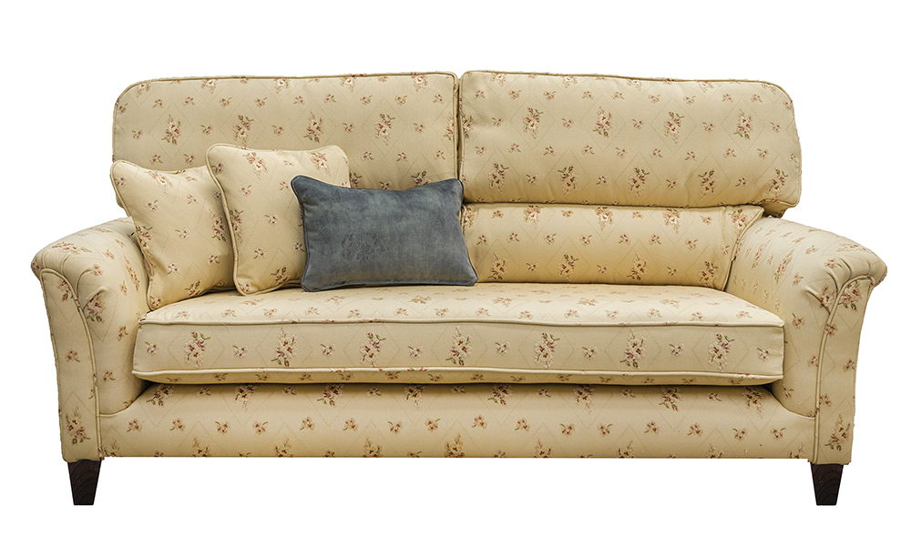 Cumbria 3 Seater Sofa (Bench Seat, Bespoke) in Semi Ramis Mini, Platinium Collection Fabric.jpg