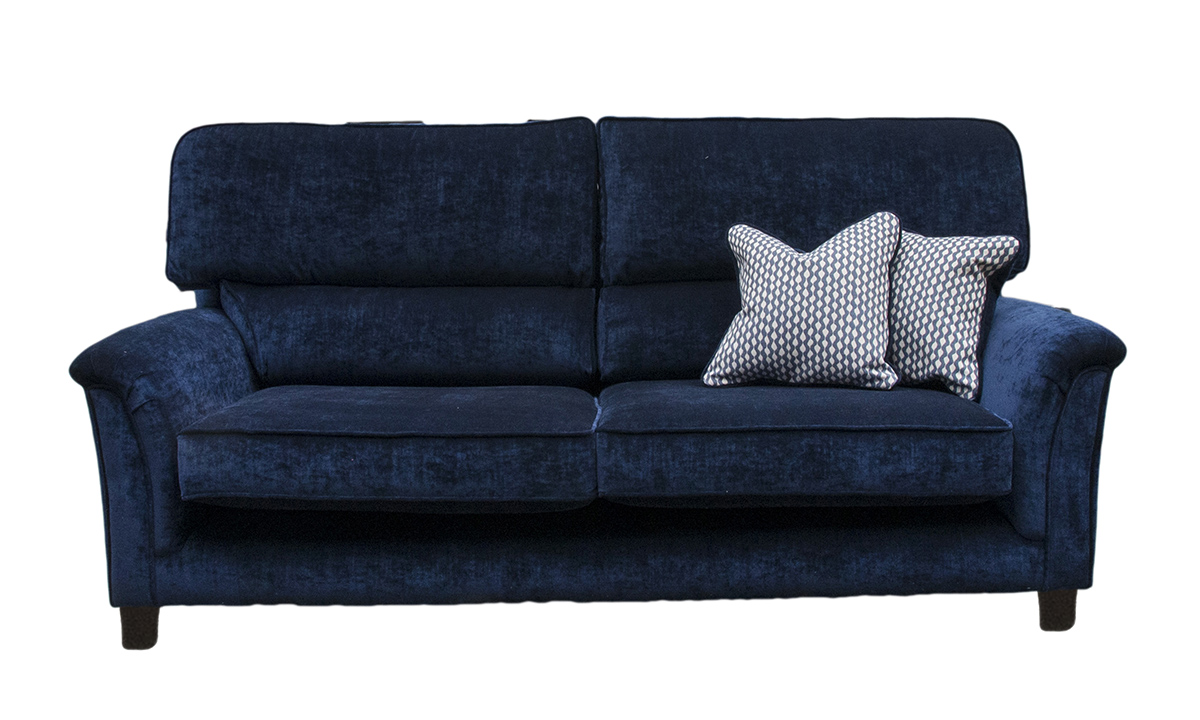 Cumbria 3 Seater Sofa in Mancini Carbon, Gold Collection