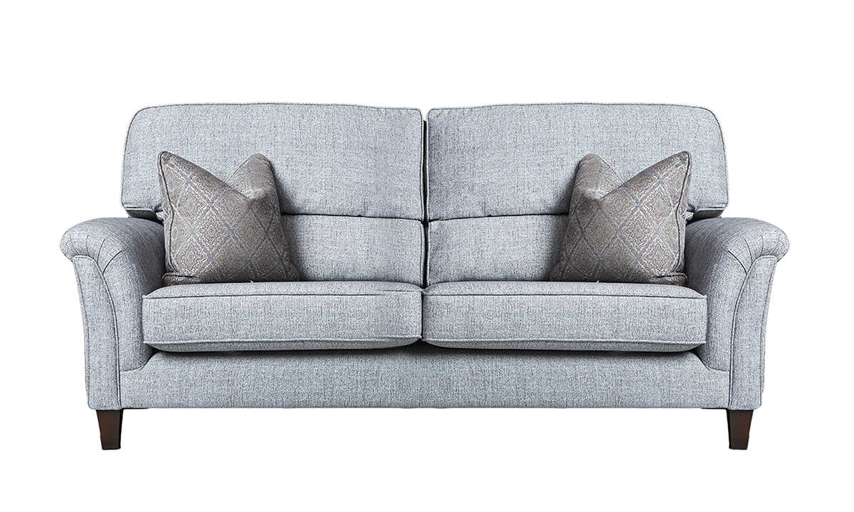 Cumbria 3 Seater Sofa in Spencer Steel, Silver Collection Fabric