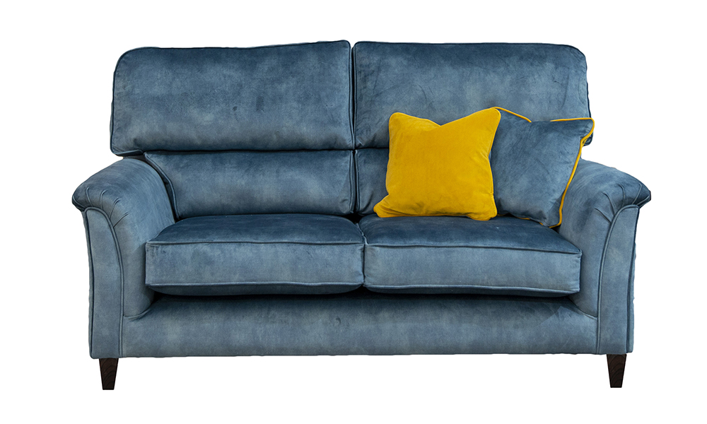 Cumbria 2 Seater Sofa in Lovely Ocean, Gold Collection of Fabrics