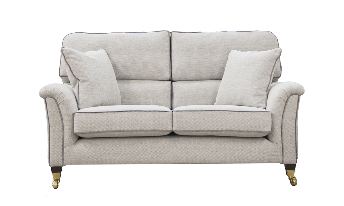 Cumbria 2 Seater Sofa in Orca Weave OW258, Silver Collection Fabric