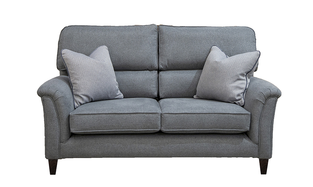 Cumbria 2 Seater Sofa in Porto Dark Grey, Silver Collection of Fabrics