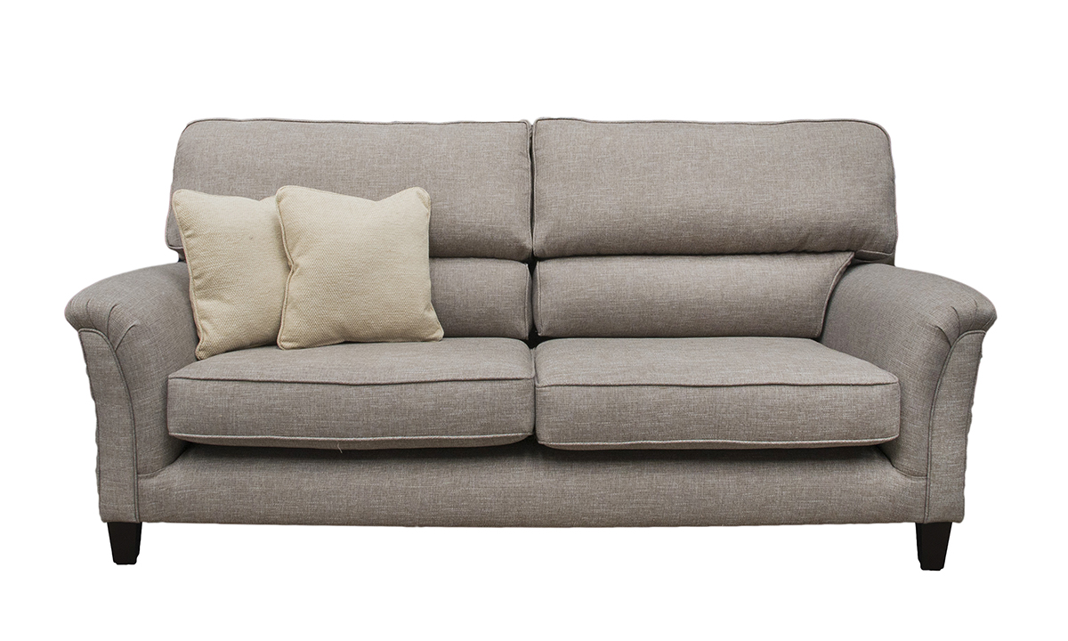 Cumbria 3 Seater Sofa in Ado Pebble, Bronze Collection Fabric
