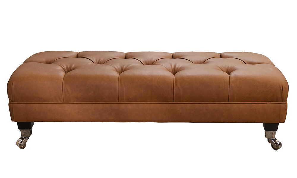 Deep Button Ottolong in Dust Tan, Silver Collection - 405535