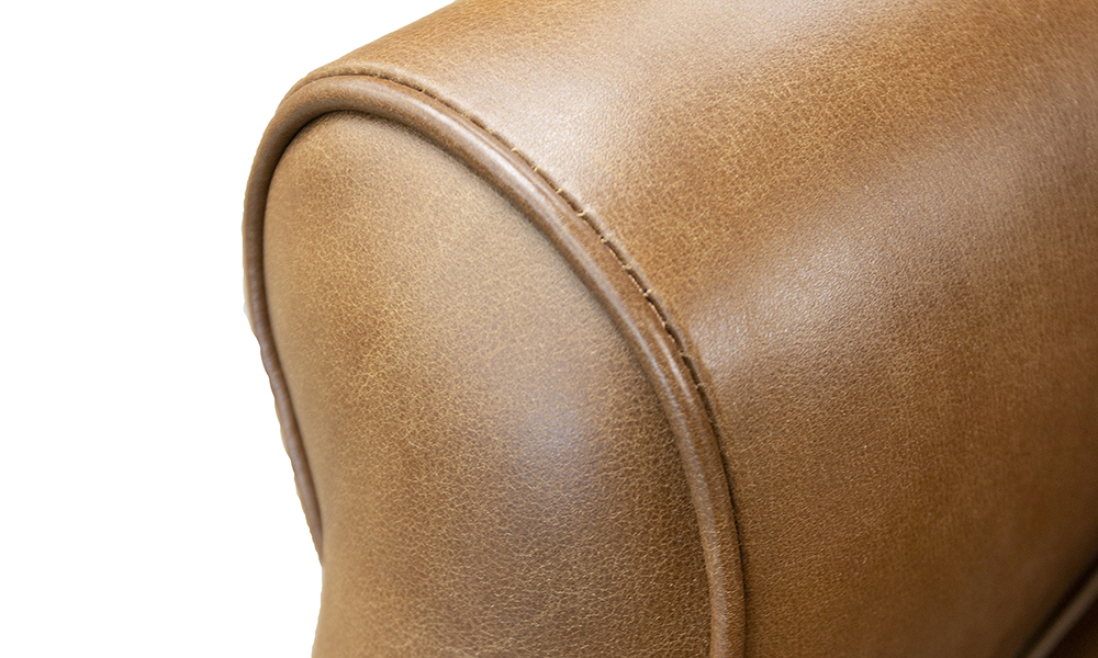 Queen Anne Chair Deep Button Back, Mustang Leather