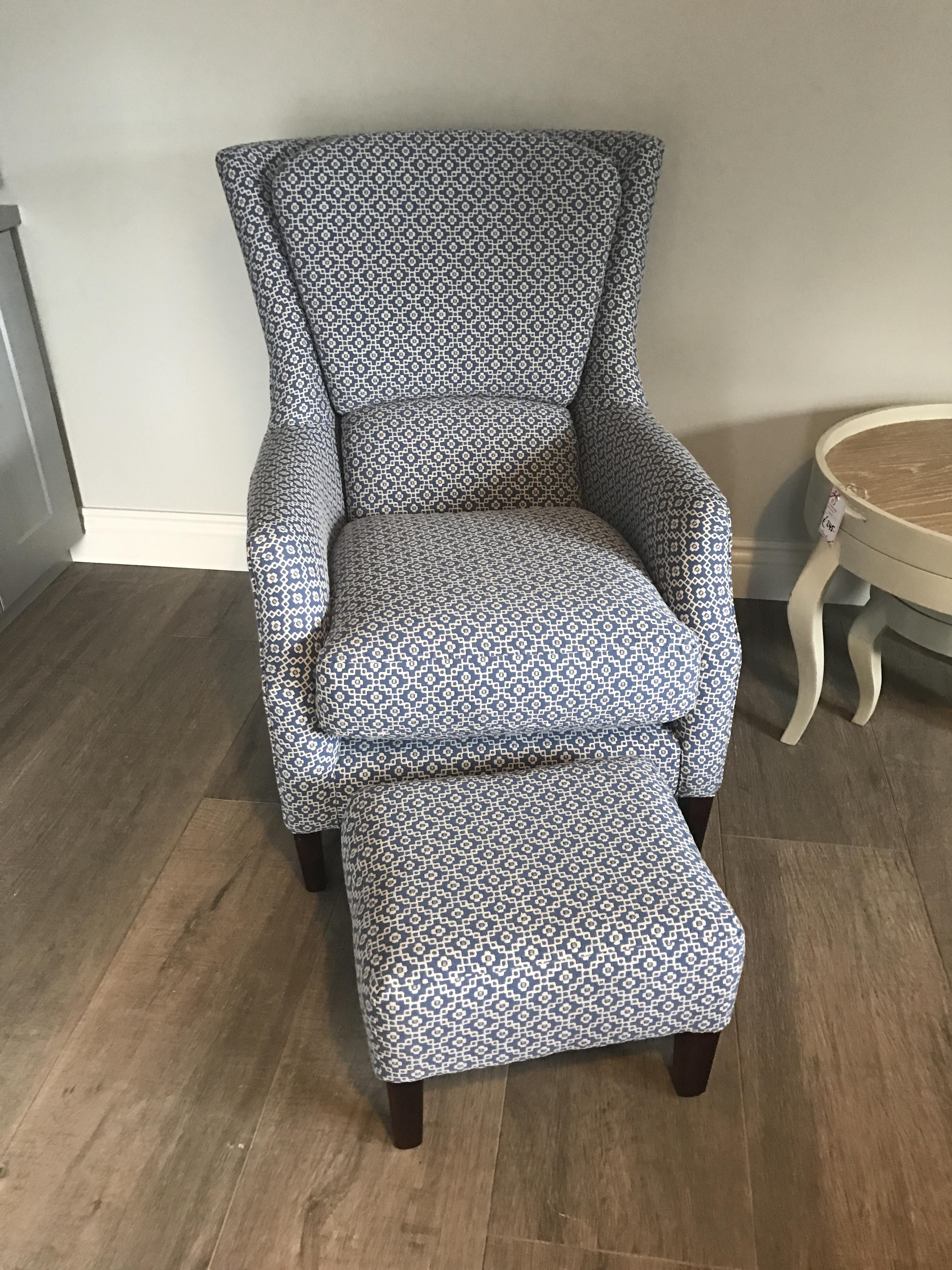 harvard chair with matching footstool