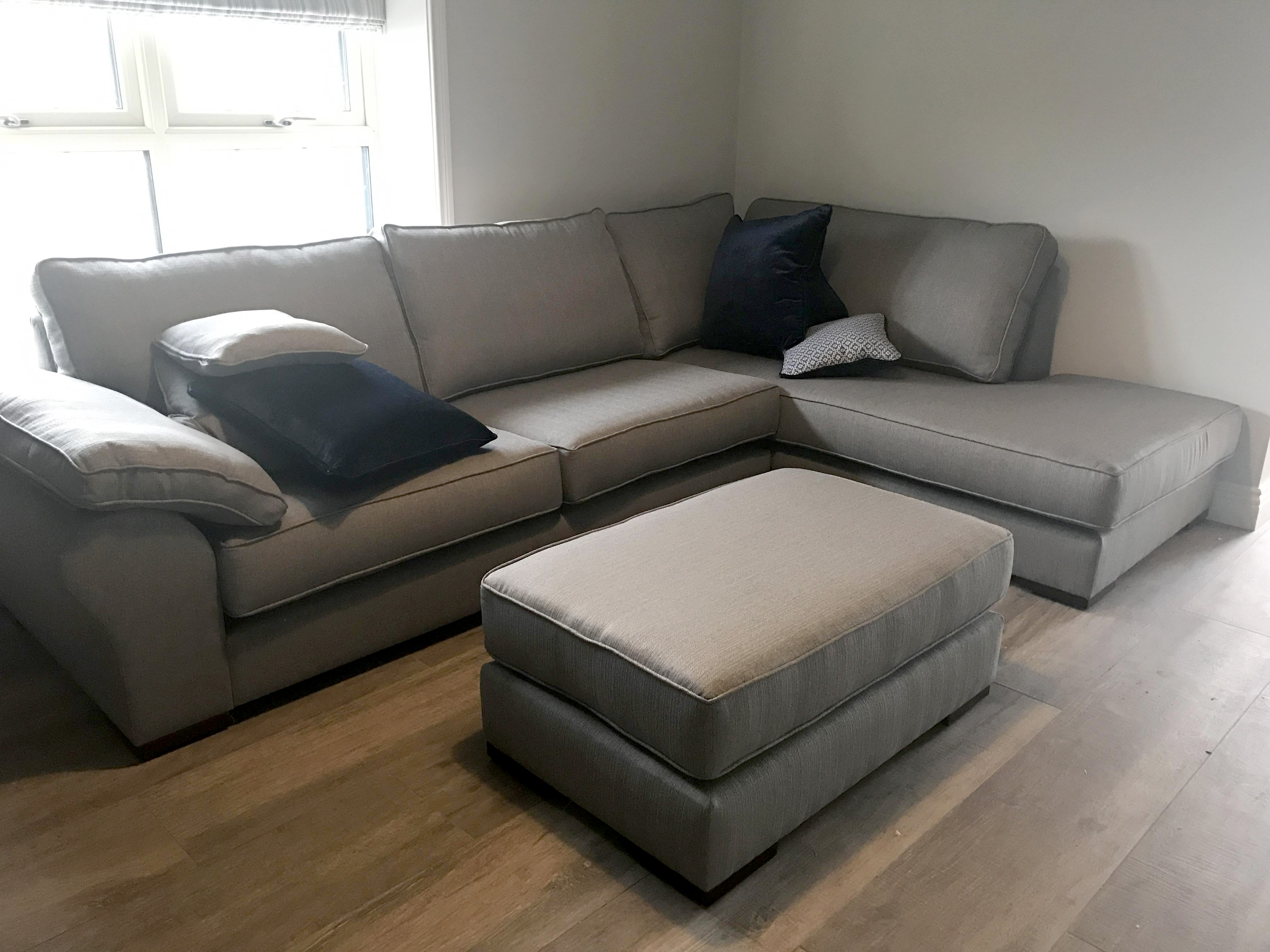 atlas corner chaise with matching island