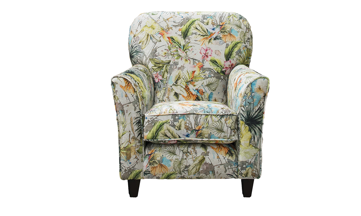 Dylan Chair  in Paradise Multi, Platinum Collection Fabric