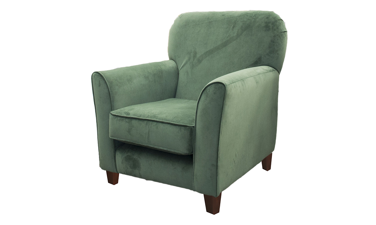 Dylan Chair in Warwick Plush Shamrock, Silver Collection Fabric
