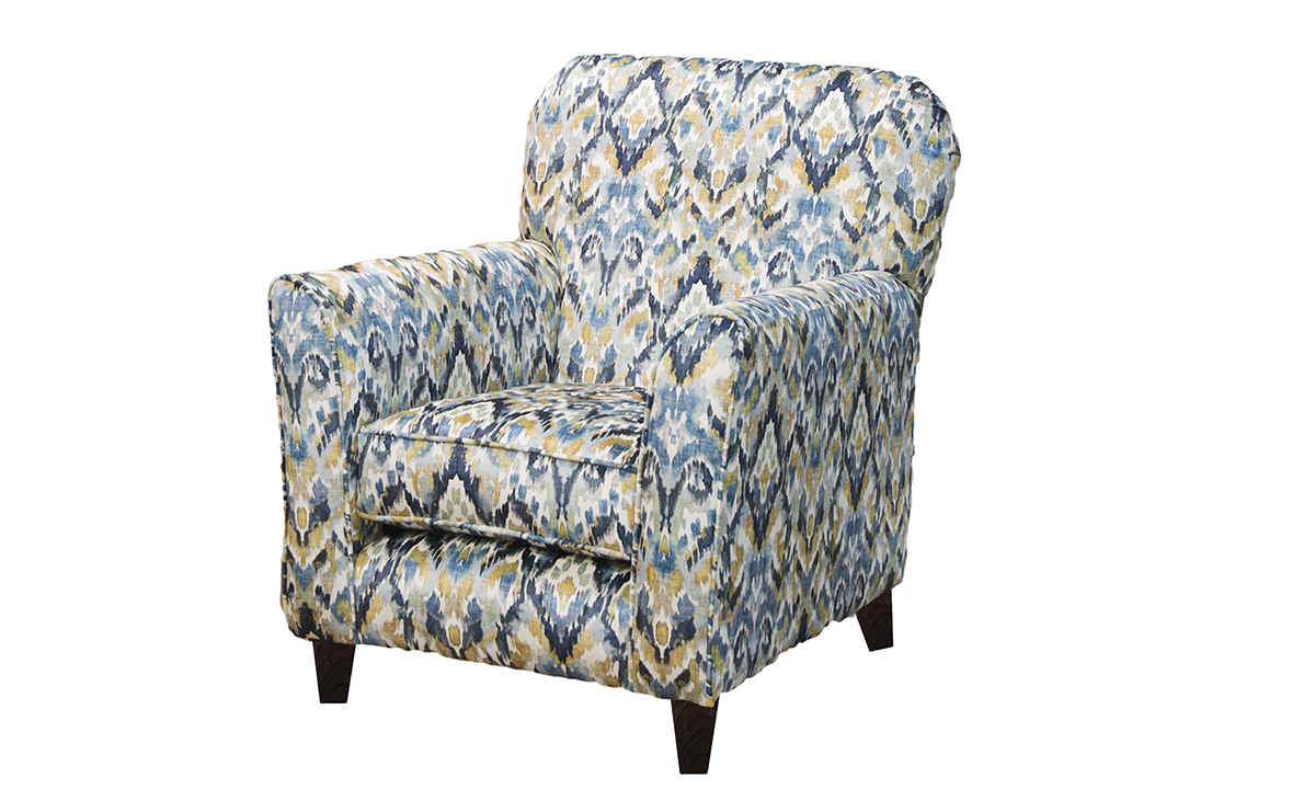 Dylan Chair in Monet Winter Platinum Collection Fabrics