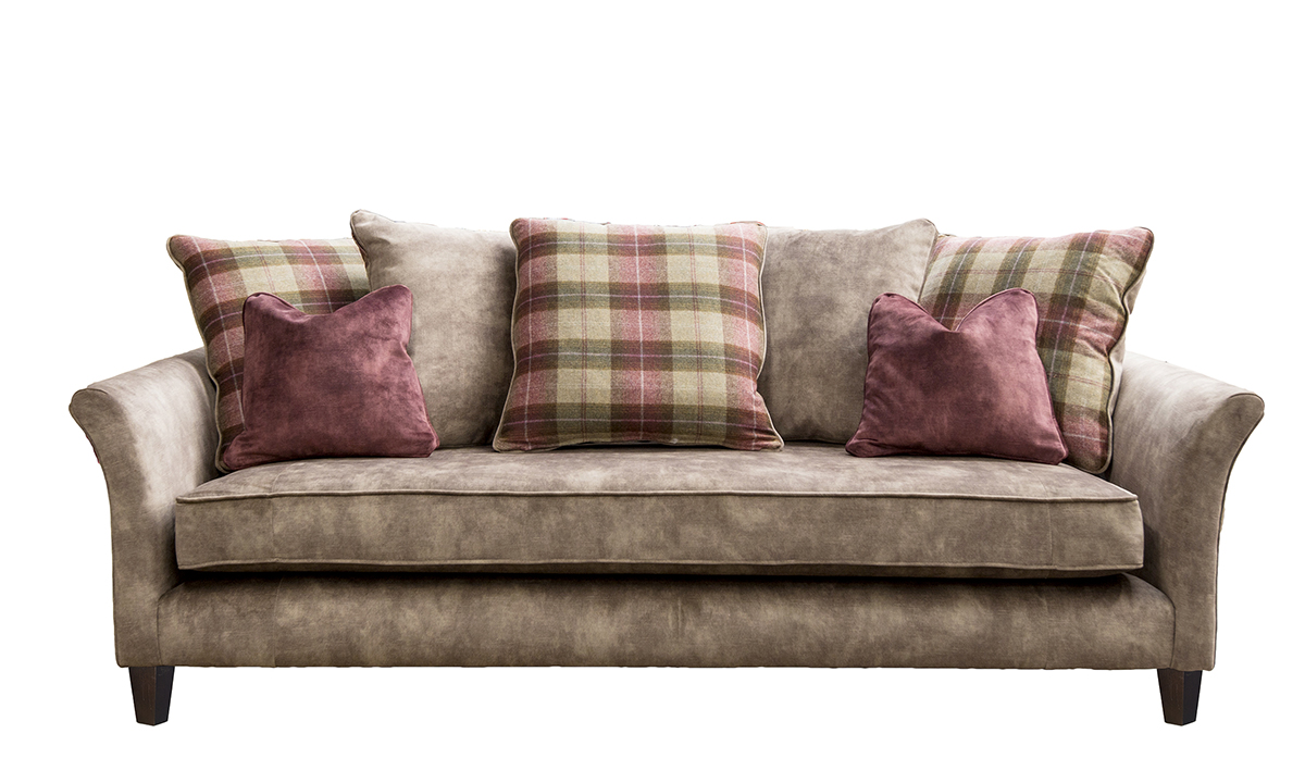 Elijah 3 Seater Sofa in Lovely Latte Gold Collection Fabric