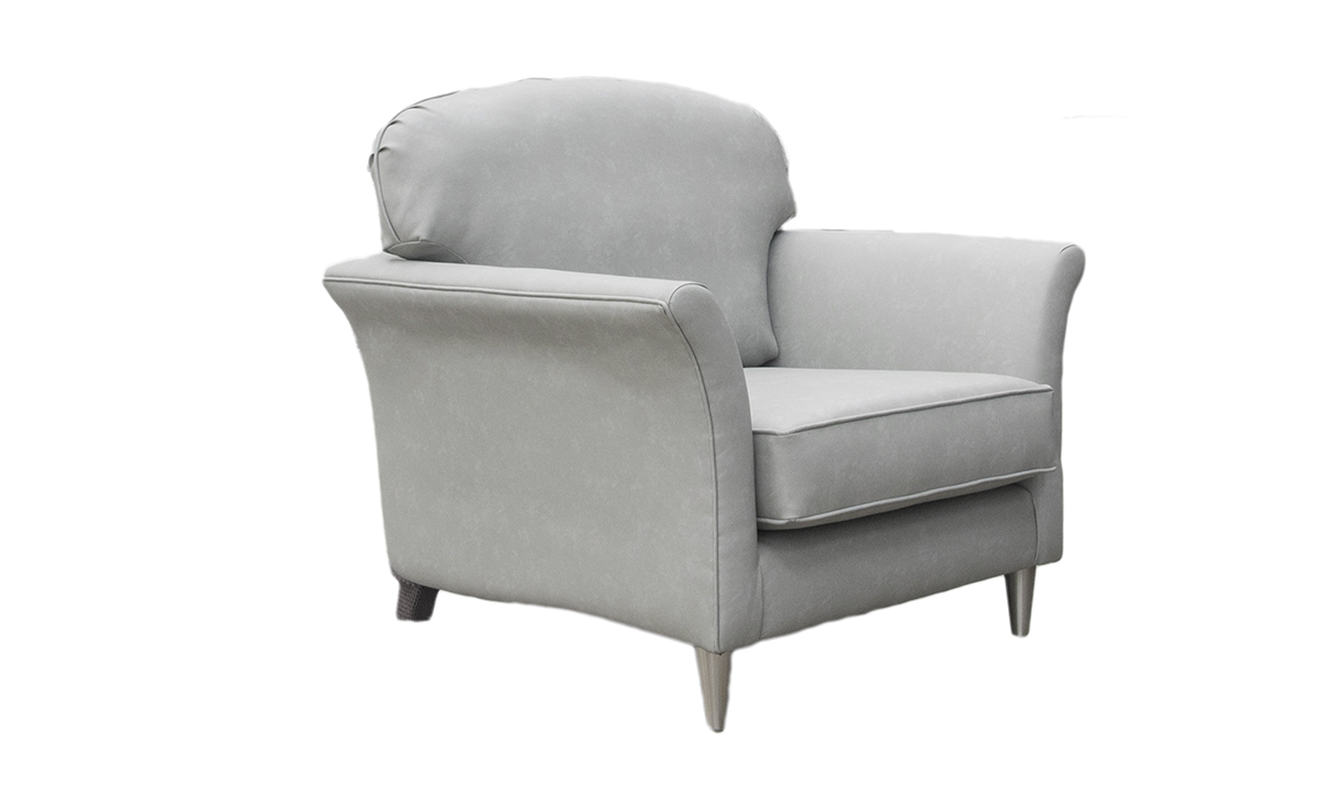 Elijah Small Chair Side in Infiniti Shadow Leatherette Platinum Collection